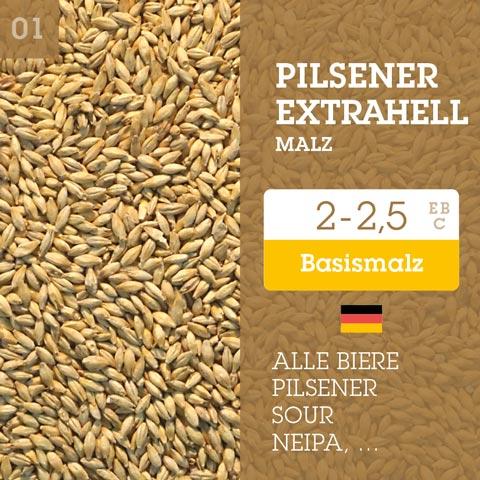 Pilsener-extrahell 2-2,5 EBC