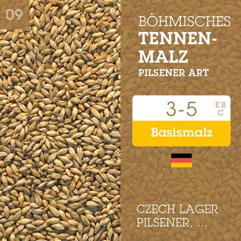 Böhmisches Tennenmalz Pilsener Art 3-5 EBC