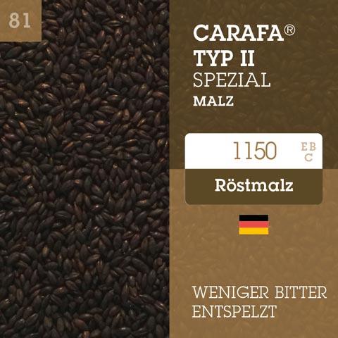 Carafa® Typ II Spezial Malz - entspelztes Farbmalz - 1150 EBC