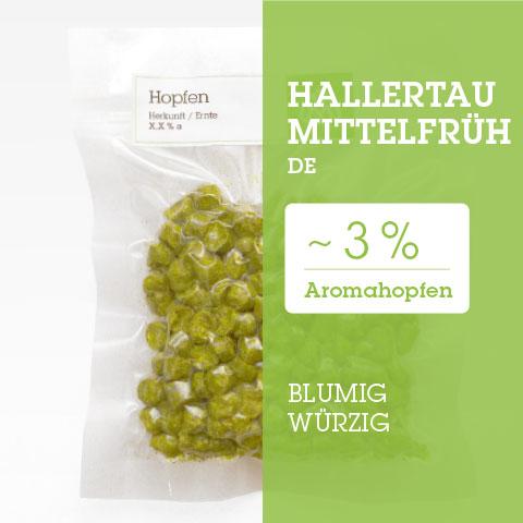 Hallertau Mittelfrüh DE Hopfen Hopfenpellets P90 kaufen