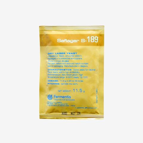 Trockenhefe SafLager S-189 - 11 g Beutel