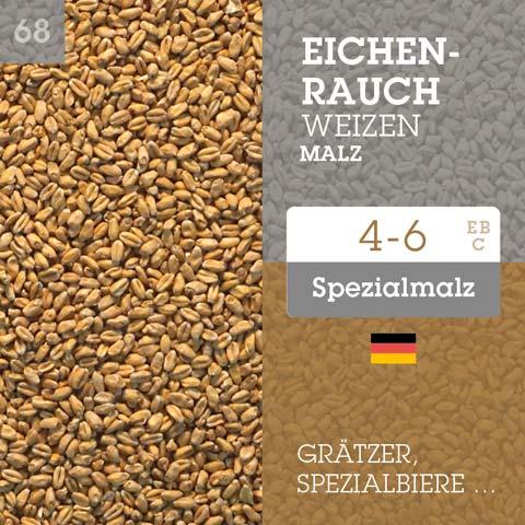 Eicherauch Weizenmalz - Spezialmalz - 4-6 EBC , Grätzer